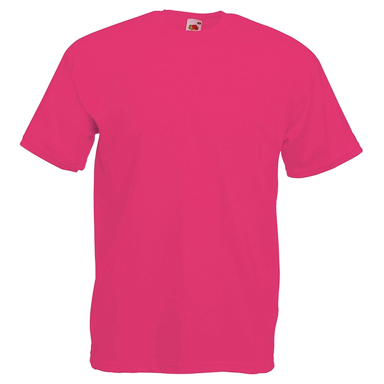 Fuchsia S Fruit of the Loom - T-Shirt - Moderne - Homme