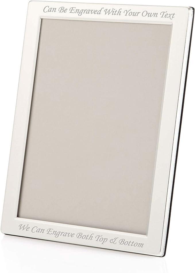 "5/"" X 7/"" Silver Plated Glitter Photo Frame Custom Engraved"