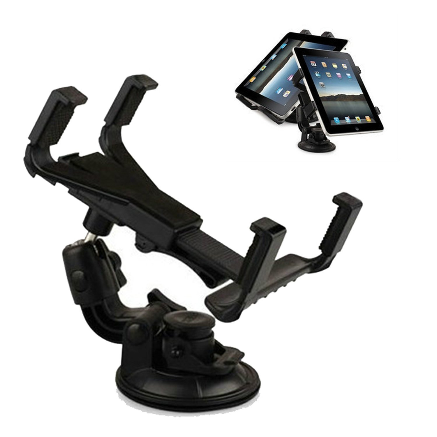 Tsmine Universal Car Mount - Windshield Dashboard Car Mount Holder Cradle for Asus Transformer Pad TF300 / TF300T 10.1-Inch Tablet and All 7 Inch and 10.1 Inch Tablet