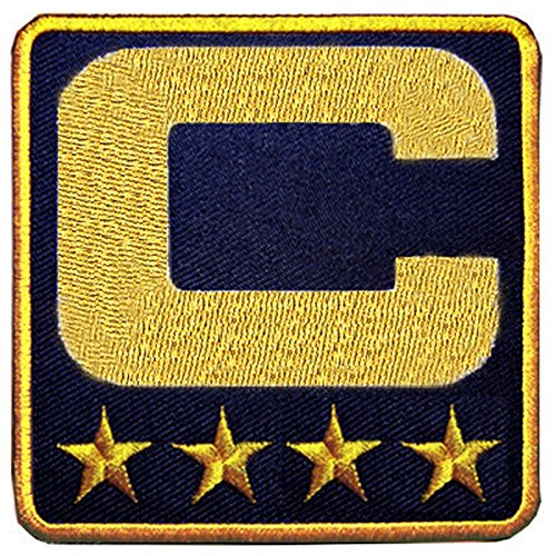 Captain C Navy Blue Football Baseball Soccer Hockey Basketball Sport for Jersey Iron on Patch