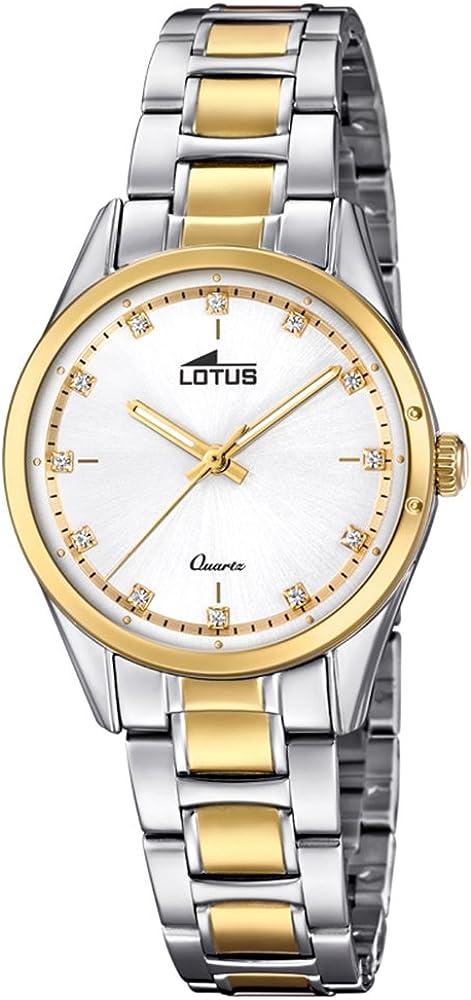 Lotus Reloj para de Cuarzo analógico con Correa en Acero Inoxidable 18386/1