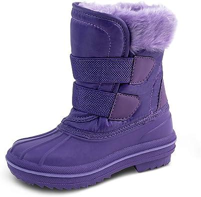 Amazon.com | HZSTAY Toddler Waterproof Winter Outdoor Snow Boots(Girls/Little  Kids) | Boots