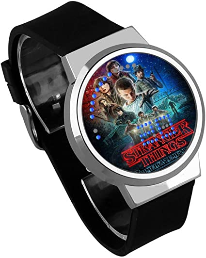Relojes De Pulsera,Reloj Led Táctil Monster Stranger Things Personalidad Periférica Moda Reloj con Calendario Impermeable D: Amazon.es: Relojes