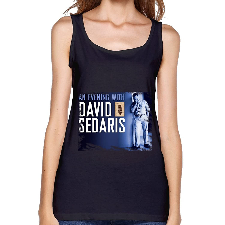 UTU David Sedaris Poster Womens Fashion Tank Top Black