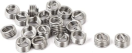 uxcell M3x0.5mmx4.5mm 304 Stainless Steel Helical Coil Wire Thread Insert 50pcs