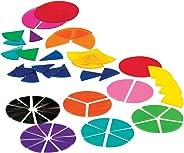 Deluxe Plastic Rainbow Fraction Circles Classroom Basics Kit