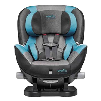 Evenflo Triumph LX Convertible Car Seat Fischer Grey Teal One Size
