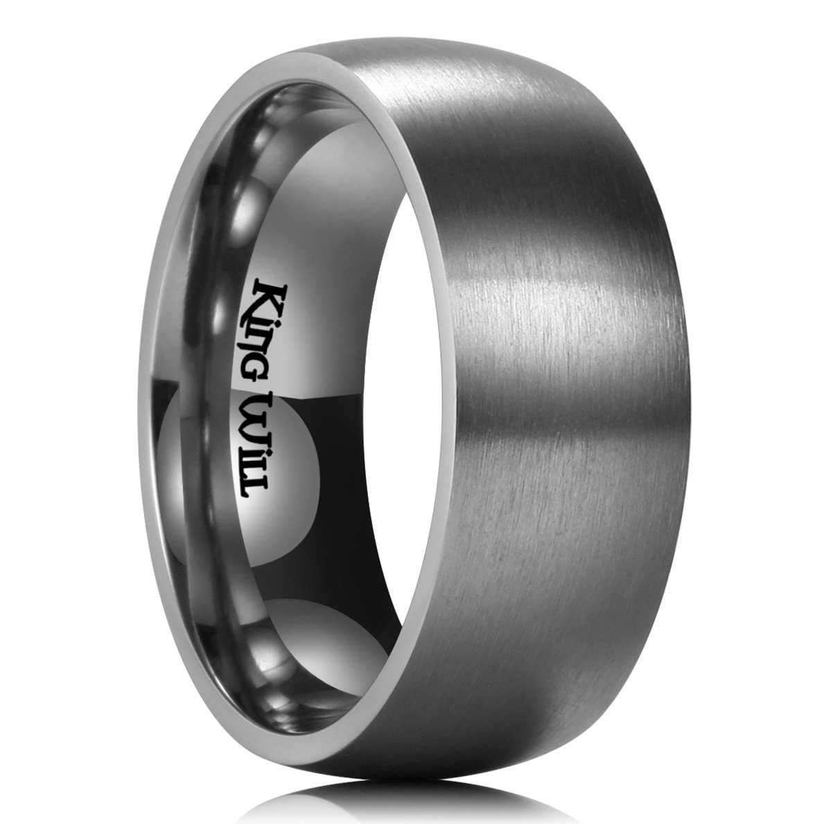 King Will BASIC 9MM Titanium Ring Brushed Matte Comfort Fit Wedding Band For Men Women 9