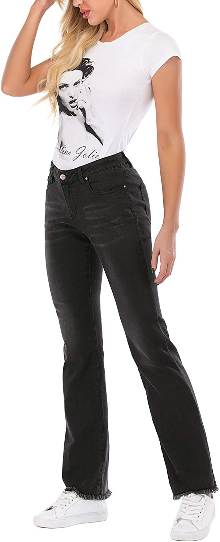 MetHera Womens Le Mel Classic Stretch Curvy Bootcut Jeans