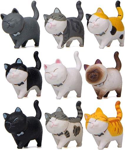 Amazon.com: Halloluck - Juego de 9 figuras de gato en ...