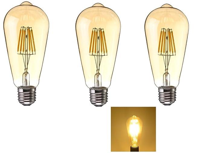 LED Edison Bombillas,Bombillas de Filamento LED,6W (60W Equivalente), Bombilla