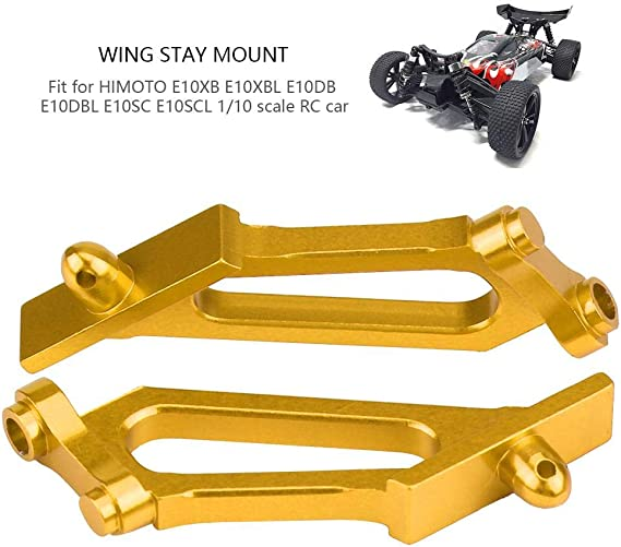 Aluminium Alloy Wing Stay Support Holder Mount For HIMOTO 1:10 Scale RC Car Gold
