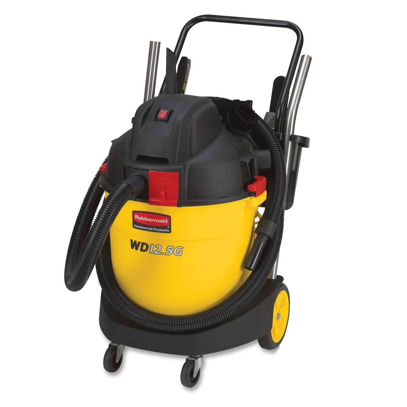 Rubbermaid Commercial 12.5-Gallon Wet and Dry Vacuum Cleaner, 27.6-Inch Depth x 20.3-Inch Width x 35.9-Inch Height (FG9VWD120000)
