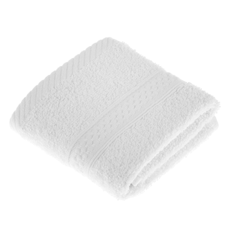 Homescapes flauschiges Premium in spugna asciugamano da doccia in 100% puro cotone, blu, Tessile, bianco, 30 cm x 30 cm (Gä stetü cher) 30 cm x 30 cm (Gästetücher)