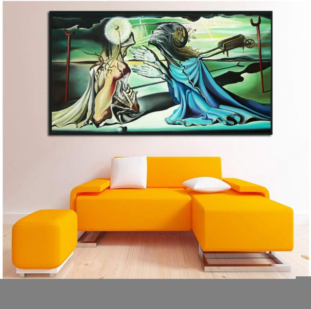 Salvador Dalì dio a Tristán un insulto Carteles de lienzo Impresiones Cuadro de la pared para el dormitorio de la oficina Decoración del hogar -50x90cm Sin marco