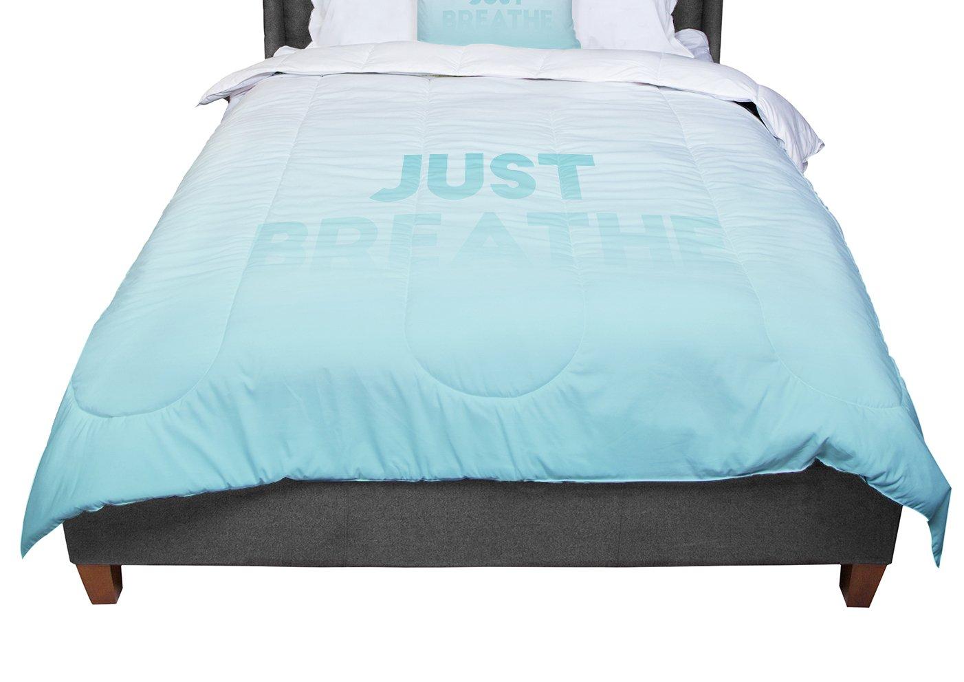 68 X 88 KESS InHouse KESS Original Just Breathe Blue Teal Twin Comforter
