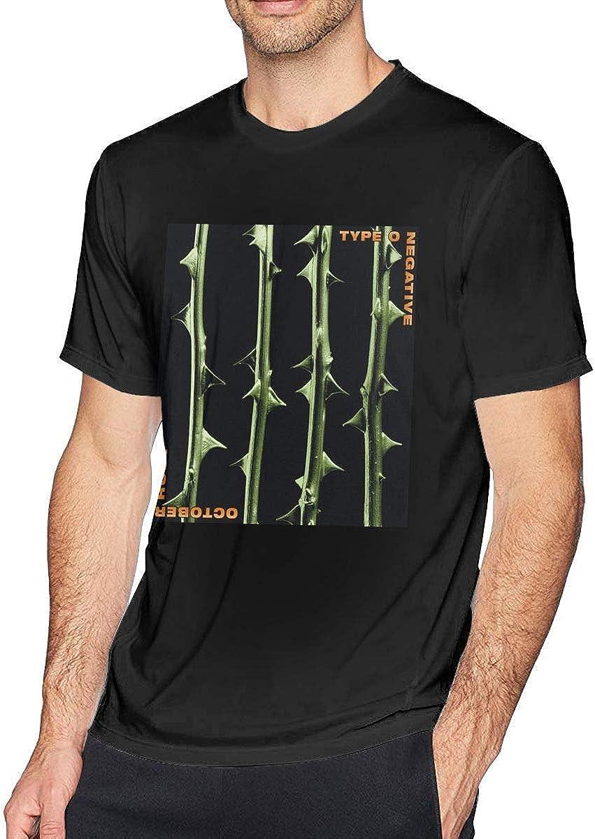 ADKASD Camisetas y Tops Men's Print Type O Negative October Rust Logo tee Black
