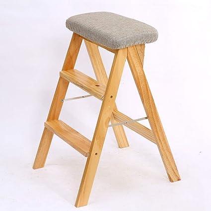 Magnificent Amazon Com Wpcbaa Folding Step Stool Solid Wood Portable Spiritservingveterans Wood Chair Design Ideas Spiritservingveteransorg