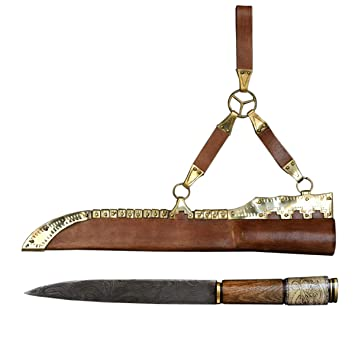 Amazon.com: SPQR - Cuchillo de vikingo, con hoja de acero ...