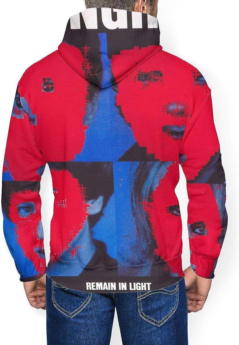Talking Heads Remain in Light Mens Long Sleeve Drawstring Hooded Fashion Hoody Plus Velvet Black
