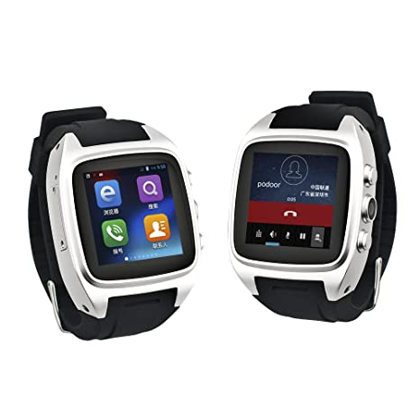 Zhihe Android 4.4.2 Smart Watch Mobile Phone and Call Phone Watch (Silver)