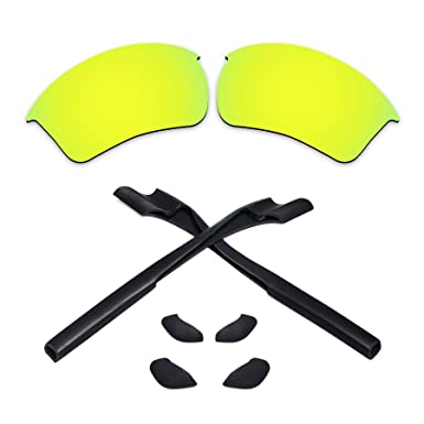 b1df7b1e45 Replacement Lenses   Black Rubber Kits for Oakley Half Jacket 2.0 XL  Sunglasses (24K Gold