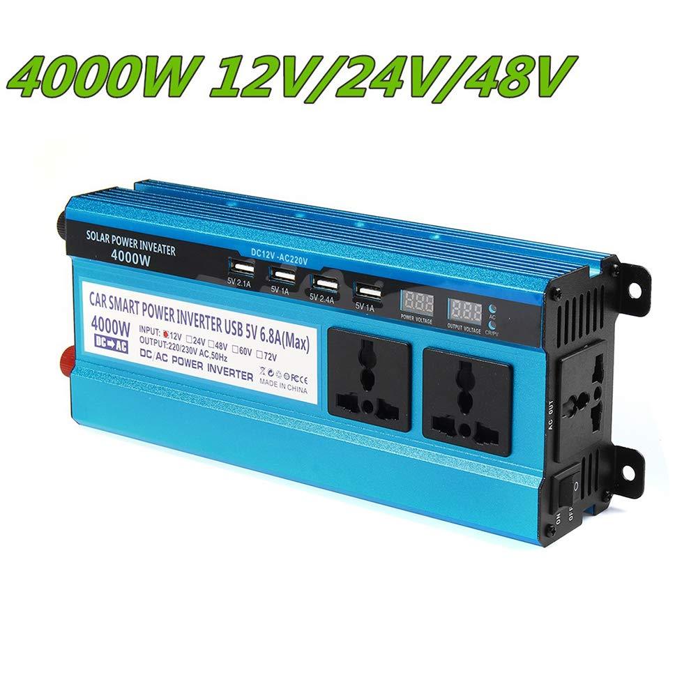 Solar Inverter DC 12V 24V 48V 3000W una CA 220V 4000W 5000W inversor Trasformatore di tensione Convertitore 4 USB Pantalla Un LED por la Casa Auto,Dc12v,3000W