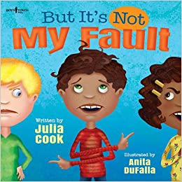 "Book cover ""But It's Not My Fault"" used in lesson on problem solving."