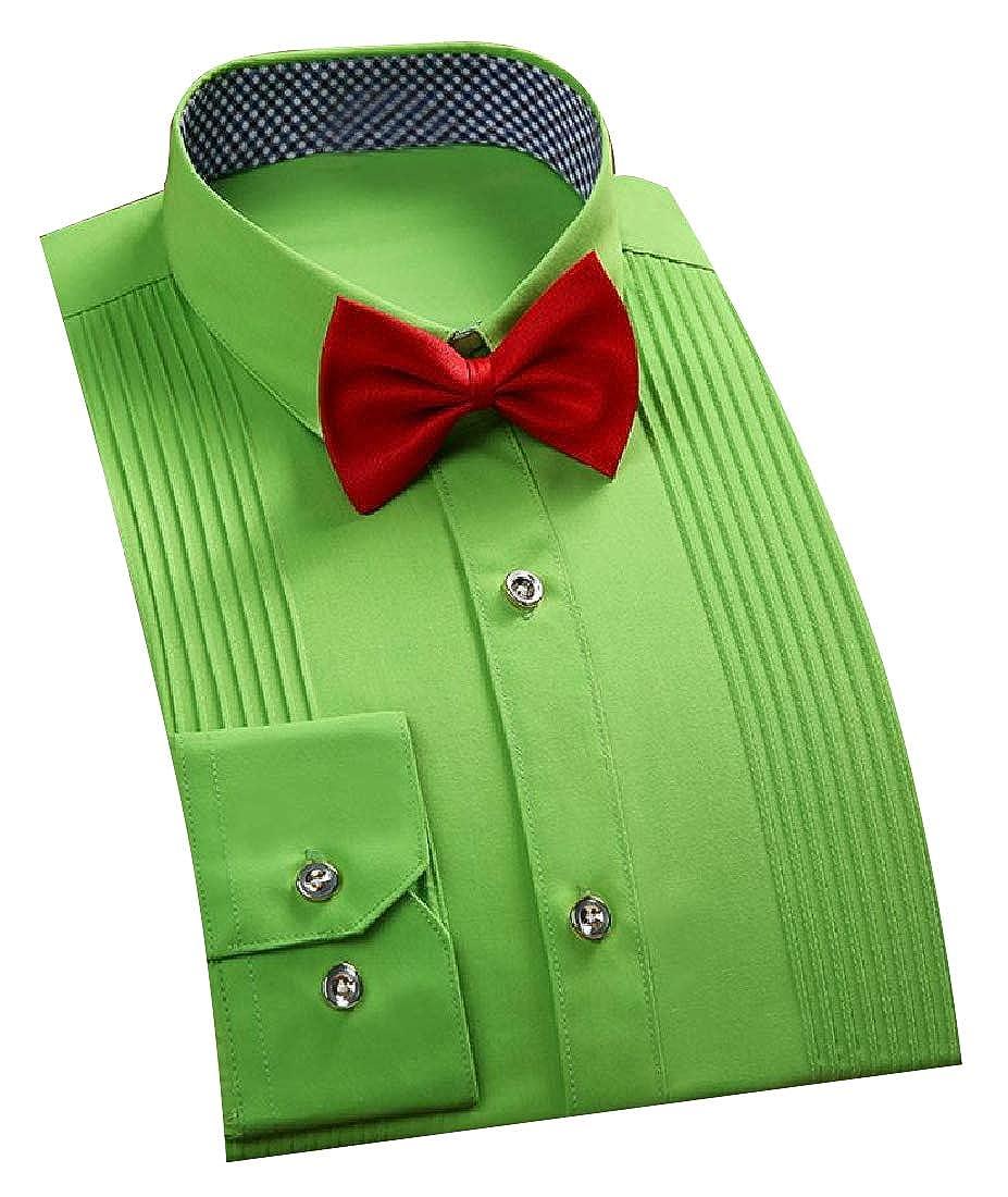 Vska Men Regular Fit Moderator Point Collar Ruched Casual Shirts