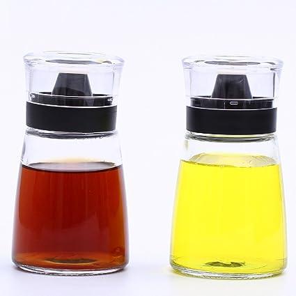 GBT Botella de condimento Pp latas de salsa de plástico, sin plomo vasos de vidrio