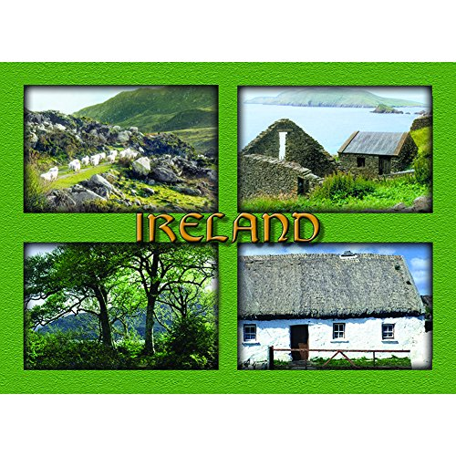 Laminated Rectangle Magnet - Green Images Of Ireland Print ()
