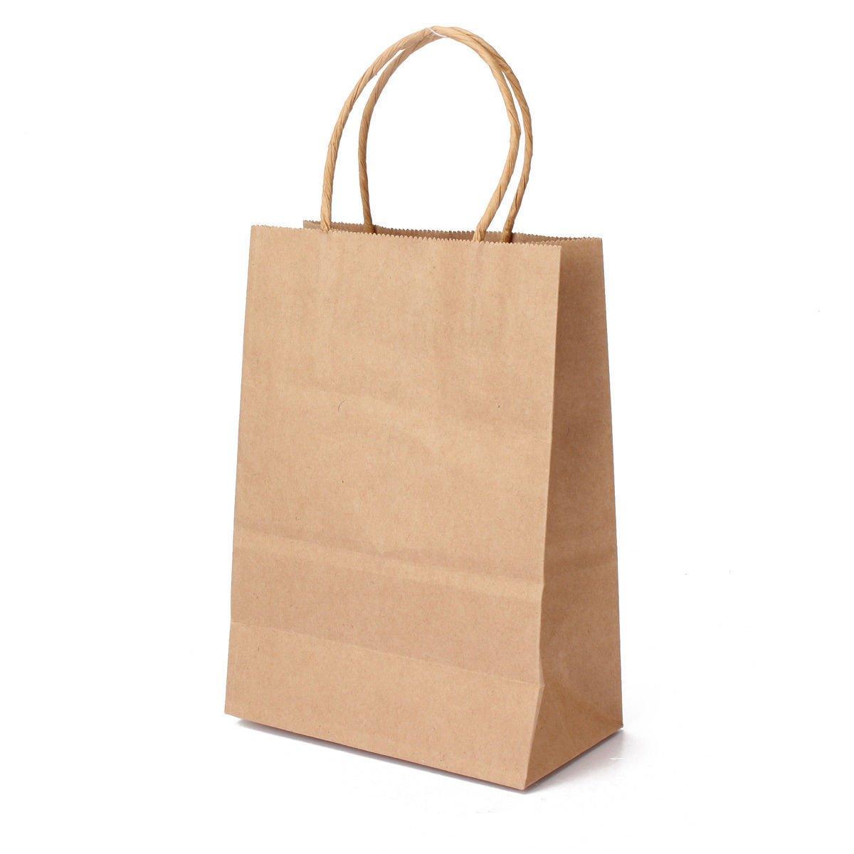 Flexicore Packaging 10''x5''x13'' - 50 Pcs Brown Kraft Paper Bags. 95% POST CONSUMER MATERIALS & FSC CERTIFIED
