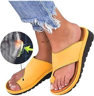 Womens Platform Sandals Summer Flip Flops Slide Sandals Casual Toe Ring Sandal Flats