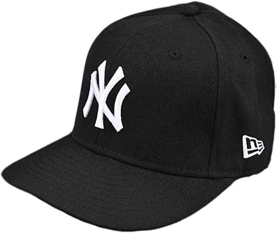 New Era New York NY Yankees BK WH Fitted Hat (Black/White) Men's 59Fifty Cap