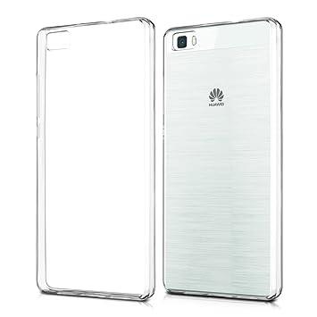 kwmobile Funda compatible con Huawei P8 Lite (2015) - Carcasa de TPU para móvil - Cover trasero en transparente