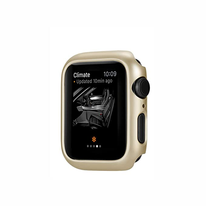 Funda para Apple Watch Series 4 40mm 44mm 2 en 1 Parachoques Cubierta del Caso Anti-Choque Ligero Protector de Pantalla Protectora Carcasa para iWatch ...