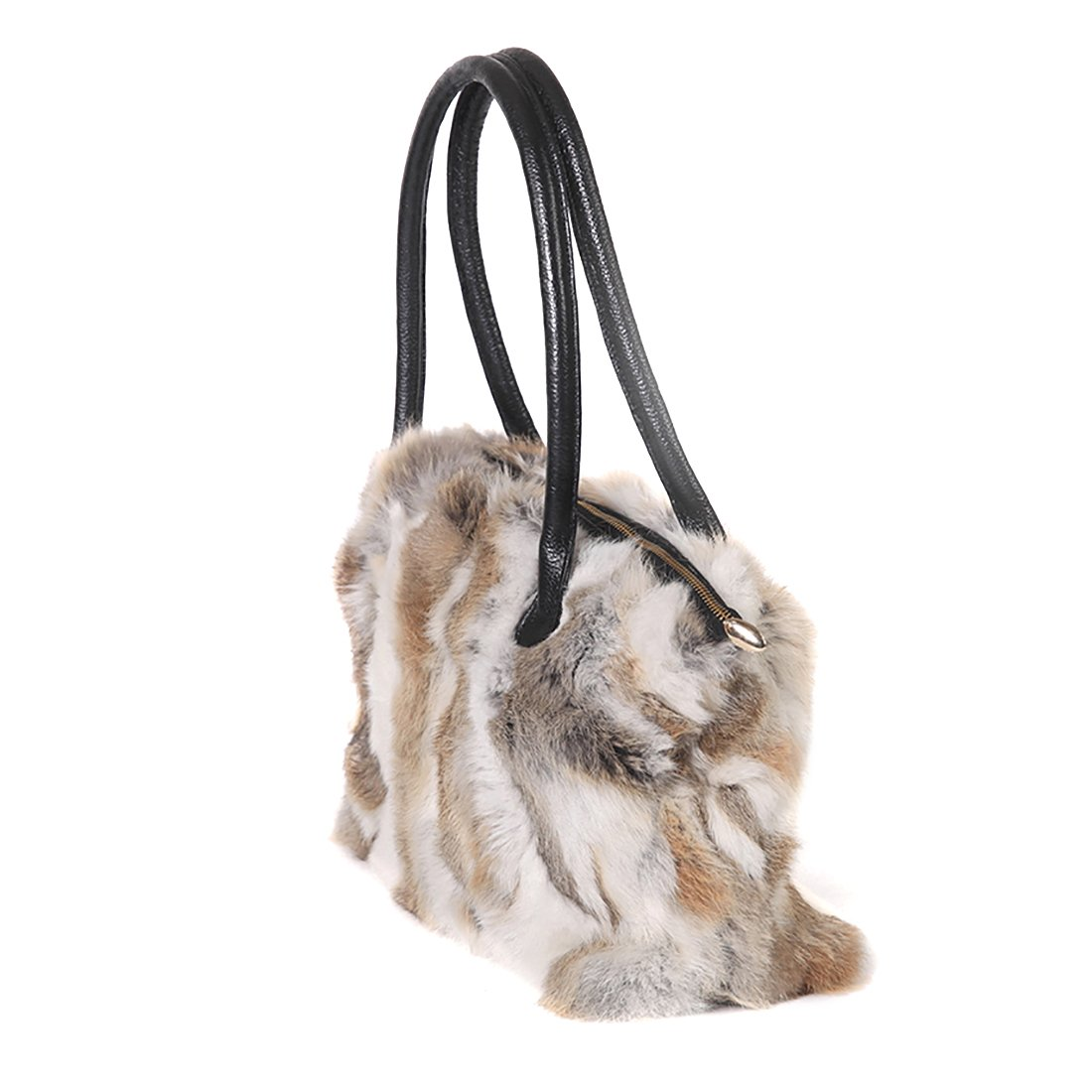 GCID-BAO06-1 URSFUR Winter Shoulder Bag Women Real Rabbit Fur Handbag Wristlet Clutch Purse Shijiazhuang Starway Imp/&Exp Trading Co .Ltd