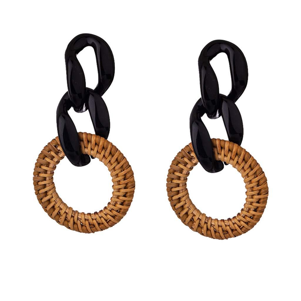 Earrings for Women Girls Statement Drop Dangle Earrings Bohemian Hoop Earring Mottled Resin Stud Earrings Fashion Jewelry