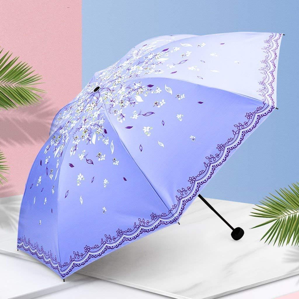 CQSMOO resiste al Vento Ombrello Pieghevole Ombrello Pieghevole Viaggio Compatto da Rain Break Antivento, Unbreakable, Auto Open e Close & mdash; per Uomini e Donne by (colore   B)
