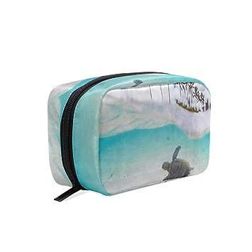 095e6c5a47c4 Amazon.com : Makeup Organizer Tropical Hawaiian Green Sea Turtle ...
