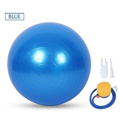 Ruick Boule Boule d'exercice, yoga, accouchement Ball (55–75cm) avec pompe de rapide, éclats et extra épais, Heavy Duty Chaise de boule Boule de stabilité Prend en charge 499kilogram (Bu