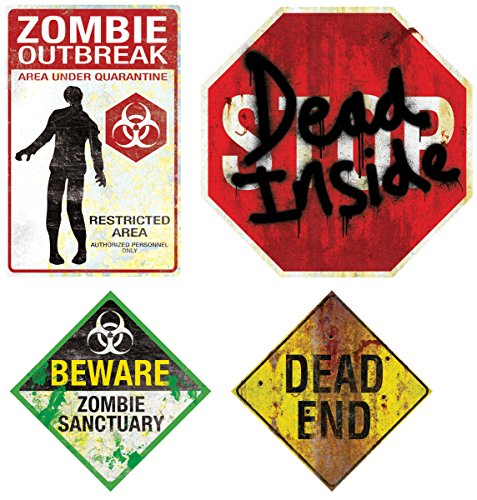 Halloween Zombie Sign Magnets ()