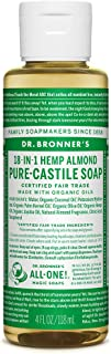 product image for Dr. Bronner's - Pure-Castile Liquid Soap (Almond, 4 Ounce)- Made with Organic Oils, 18-in-1 Uses: Face, Body, Hair, Laundry, Pets and Dishes, Concentrated, Vegan, Non-GMO