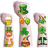 St. Patricks Day Temporary Tattoos for Kids & Adults,Shamrock Decorations Tattoos for St.Patrick's Day,Irish St.Patrick's Day