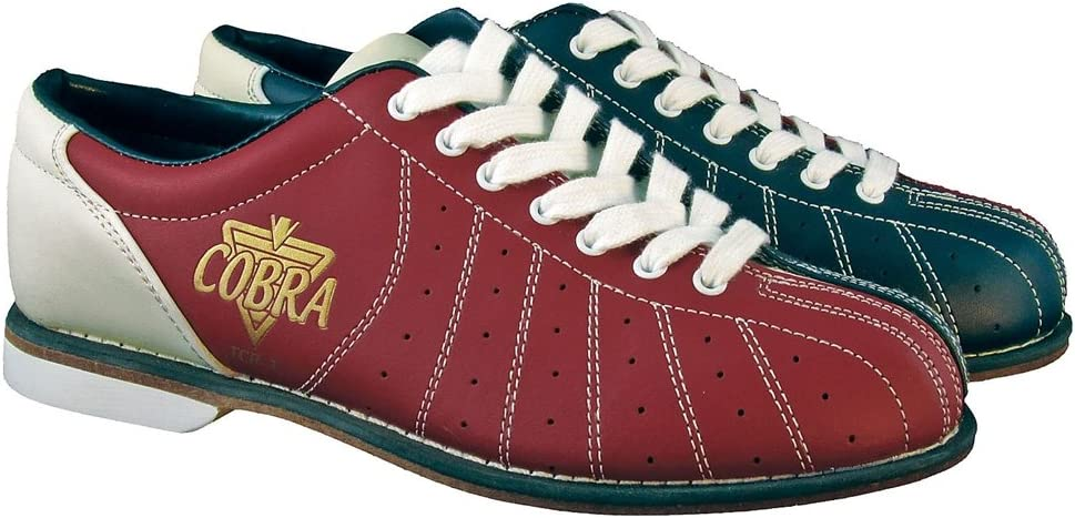 LacesRed//Blue 8 1//2 Ladies TCR1L Cobra Rental Bowling Shoes