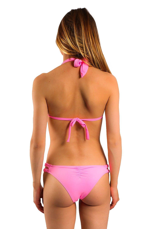 1d6bbf081ca3 Amazon.com: Carla-Bikini Pink Triangle Swimsuit Charm Babydoll: Clothing