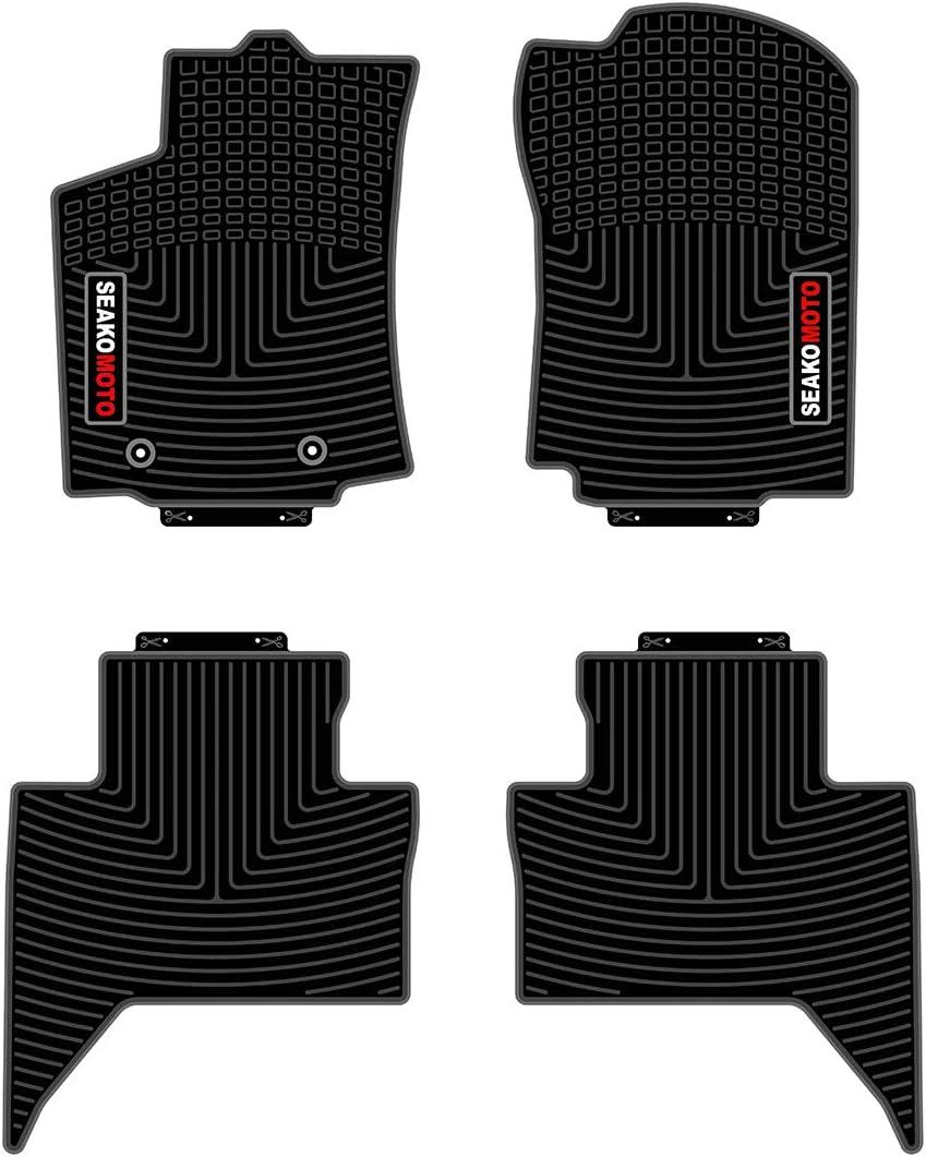 Black Set of 5 SEAKOMOTO for Toyota Tacoma Double Cab 2012-2015 Floor Mats Full Set
