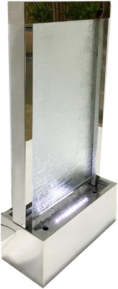 Dehner Gartenbrunnen Wasserfall Mit Led Beleuchtung Ca 101 5 X 44 5 X 20 Cm Edelstahl Grau Amazon De Garten
