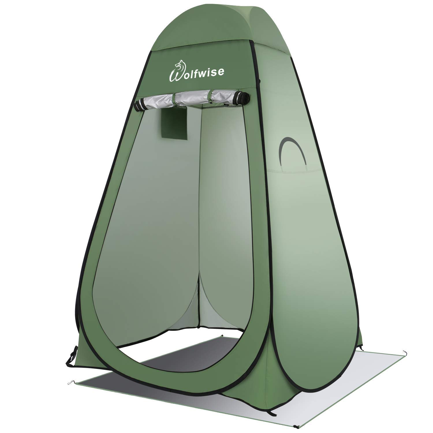 WolfWise Easy Pop Up Privacy Shower Tent Portable Outdoor Sun Shelter Camp Toilet Changing Dressing Room (Renewed) by WolfWise