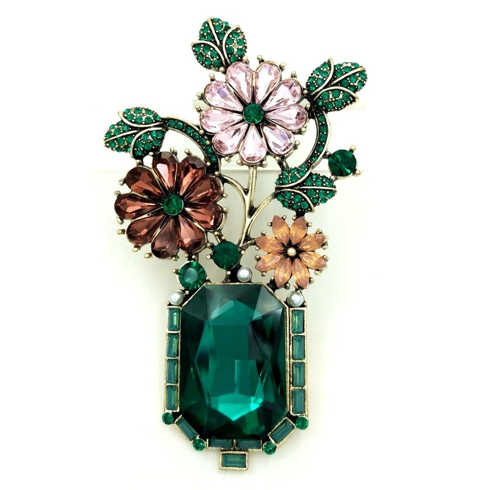 1950s Jewelry Styles and History DREAMLANDSALES Edwardian Jewelry Flowers Brooches $14.99 AT vintagedancer.com